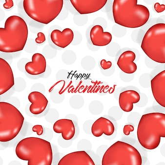 Valentijnskaartdag met 3d realistische hartballons