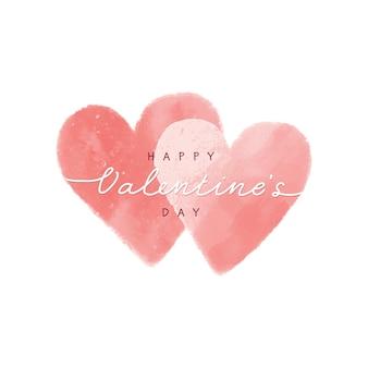 Valentijnskaarten van hart en liefdespapier voor groet