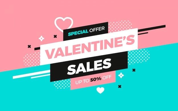 Valentijnsverkoopadvertentie voor sociale media