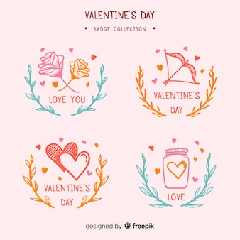 Valentine-badgepakket