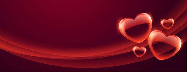 Valentine-banner met mooie bellenharten