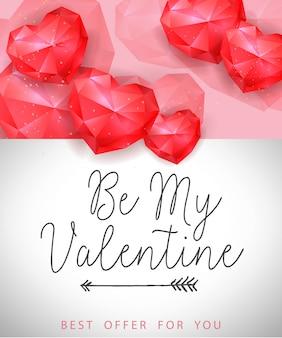 Valentine beste aanbod belettering met harten