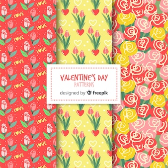 Valentine bloemenpatroonpak