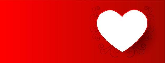 Valentine dag achtergrond met wit hart
