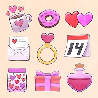 Valentine dag element collectie