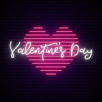 Valentine dag neon teken.