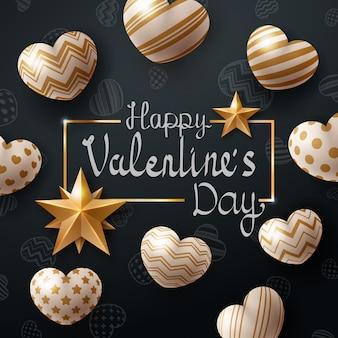 Valentine dag sjabloon