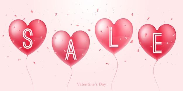 Valentine day sale-banner.