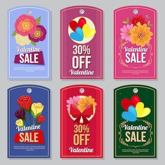 Valentine-de bloem van de de bloembloem van de inzamelingsmarkering vastgestelde vlakke stijl