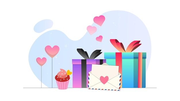 Valentine gift afbeelding achtergrond