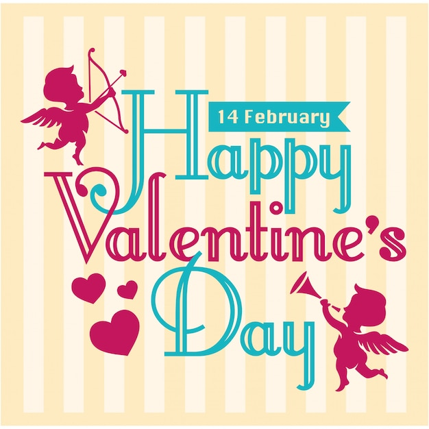 Valentine-groetkaart met vlotte achtergrond