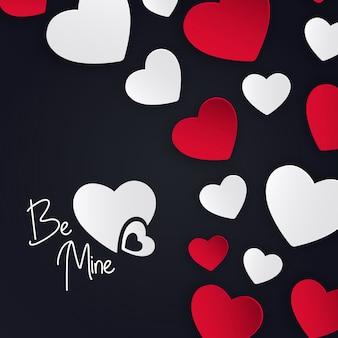 Valentine harten achtergrond