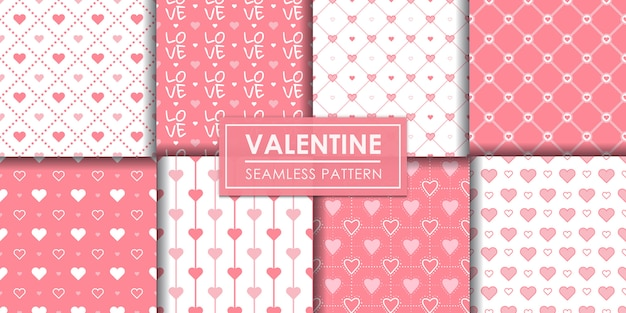 Valentine-harten naadloze patroonreeks, decoratief behang.