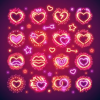 Valentine hearts met sparkles