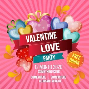 Valentine liefde partij sjabloon