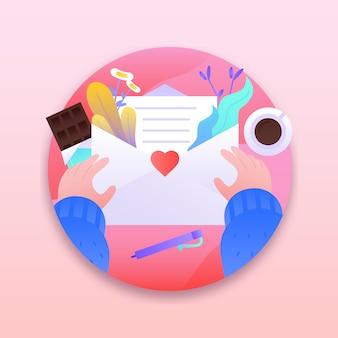 Valentine liefdesbrief