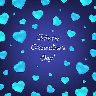 Valentine met harten.