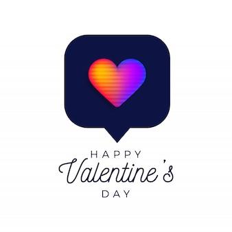 Valentine-regenbooghart zoals tegensymbool vectorillustratie