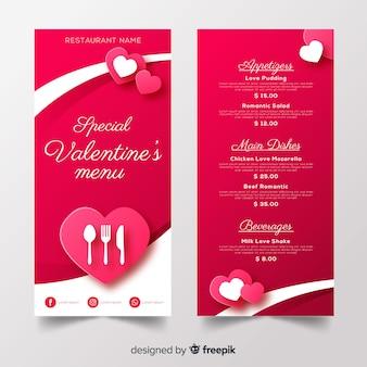 Valentine's menusjabloon