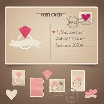 Valentine's prentbriefkaarontwerp