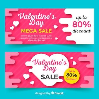 Valentine verkoop sjabloon voor spandoek