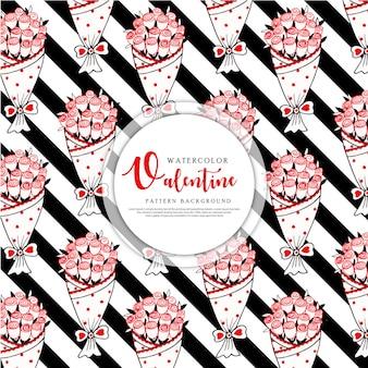 Valentine zwarte streep patroon achtergrond