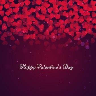 Valentines achtergrond met harten in bokeh stijl