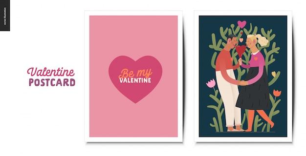 Valentines ansichtkaarten