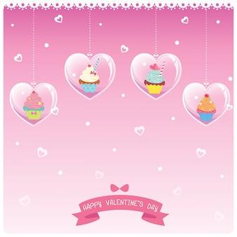Valentines hart cupcakes