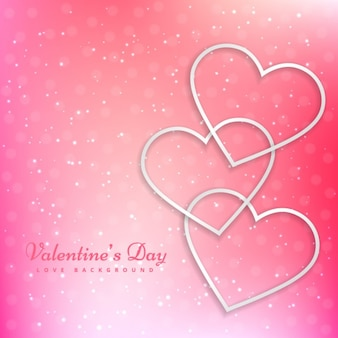 Valentines hart in mooie roze achtergrond