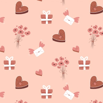 Valentines naadloze patroon