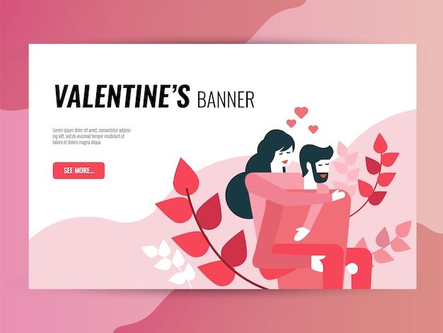 Valentines pictogramserie. gevulde en schets iconen stijl.