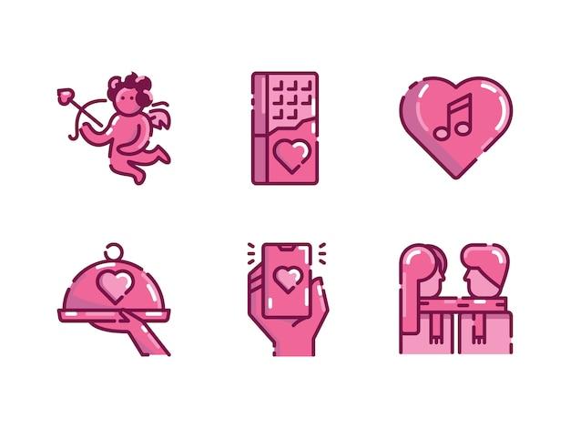Valentines pictogramserie