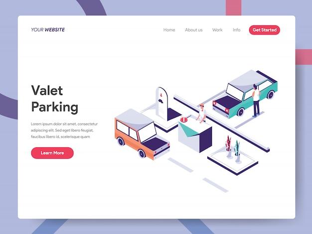 Valet parking-bestemmingspagina