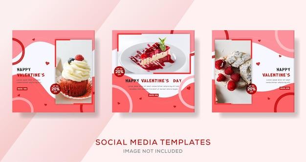 Valetines dag taart banner sjabloon premium