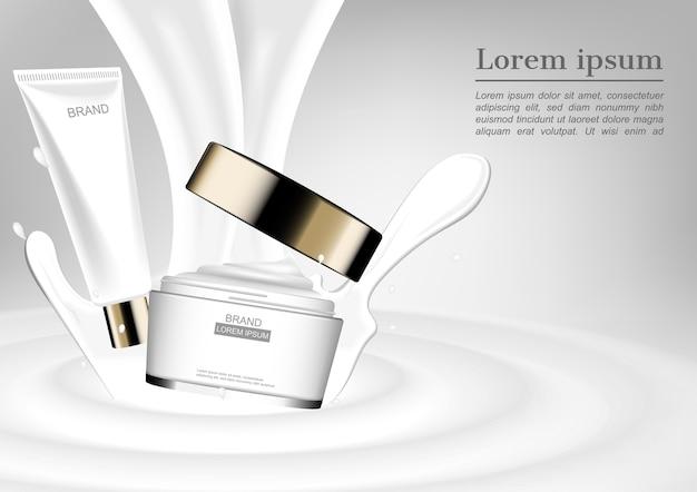 Vallend serum en vochtinbrengende crème met melk