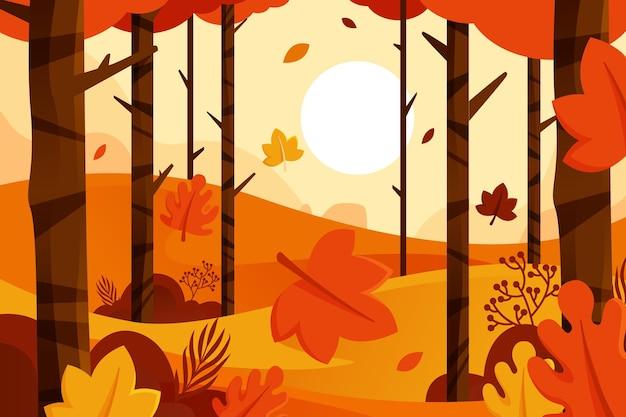 Vallende bladeren herfst achtergrond