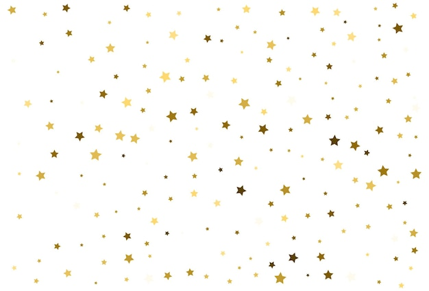 Vallende gouden sterren. gouden confetti-viering. festivaldecor. vector