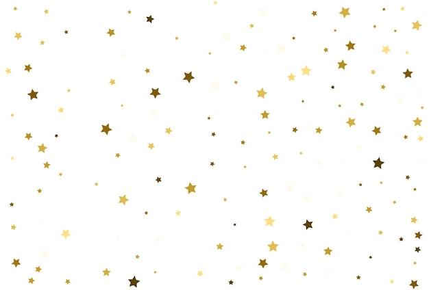 Vallende gouden sterren gouden confetti viering kerst decor