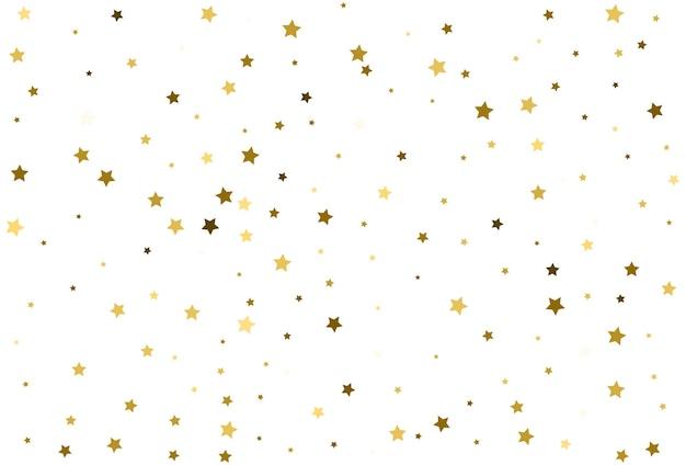 Vallende gouden sterren gouden confetti viering
