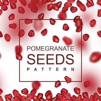 Vallende granaatappel zaden patroon