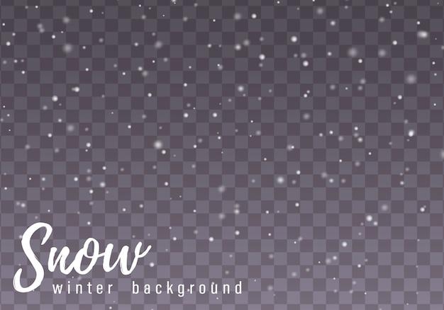Vallende kerst sneeuw.