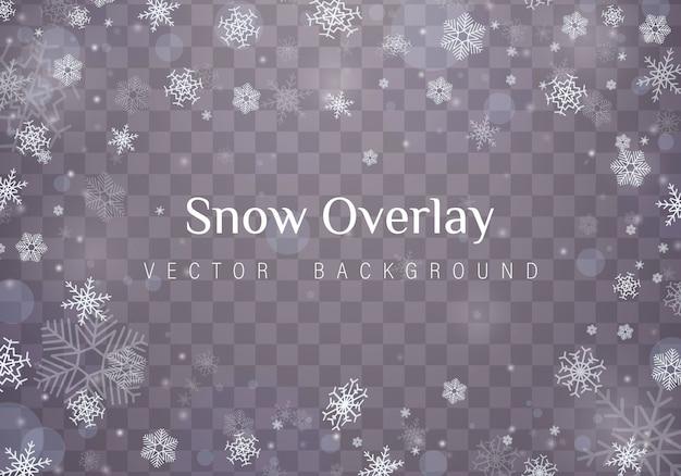Vallende kerst sneeuwvlokken