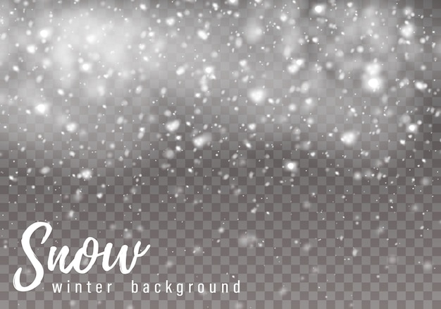 Vallende kerstmissneeuw, sneeuwvlokken. zware sneeuwval.
