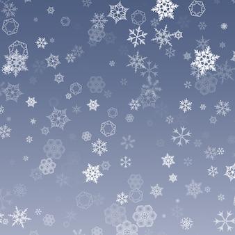 Vallende sneeuw. abstracte sneeuwvlok