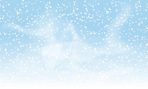 Vallende sneeuw achtergrond. vectorillustratie met sneeuwvlokken. winter sneeuwt hemel. eps 10.