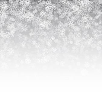 Vallende sneeuw effect kerst witte achtergrond