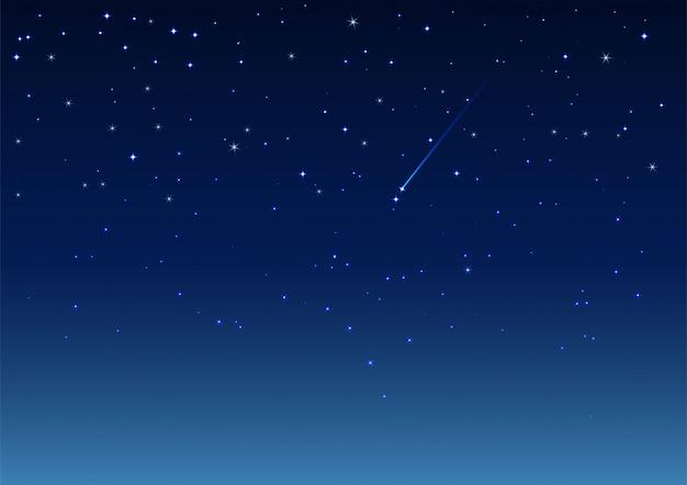 Vallende ster in de nachtelijke hemel