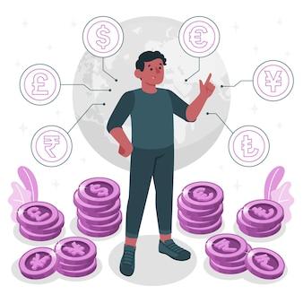 Valuta concept illustratie