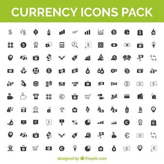 Valuta iconen vector pack